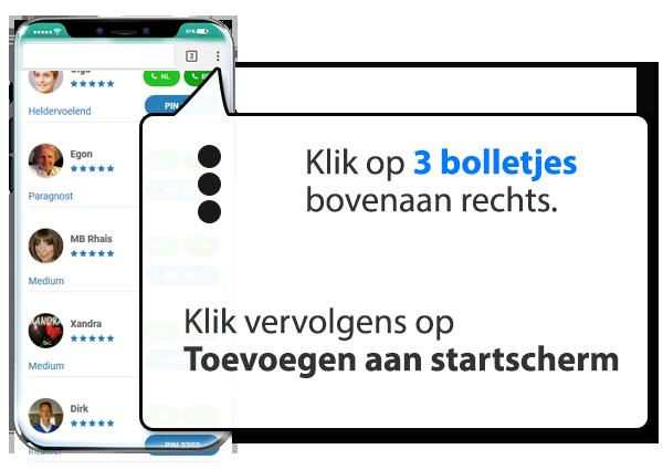 android: Paragnost.net instellen als app op Mobiel